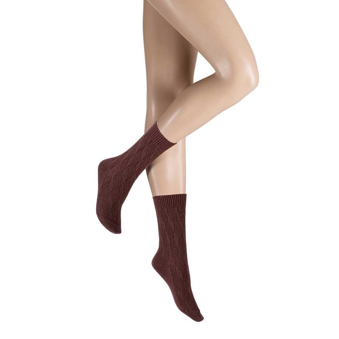 HOMELY  Socke mit klassischer Strick-Musterung - HUDSON