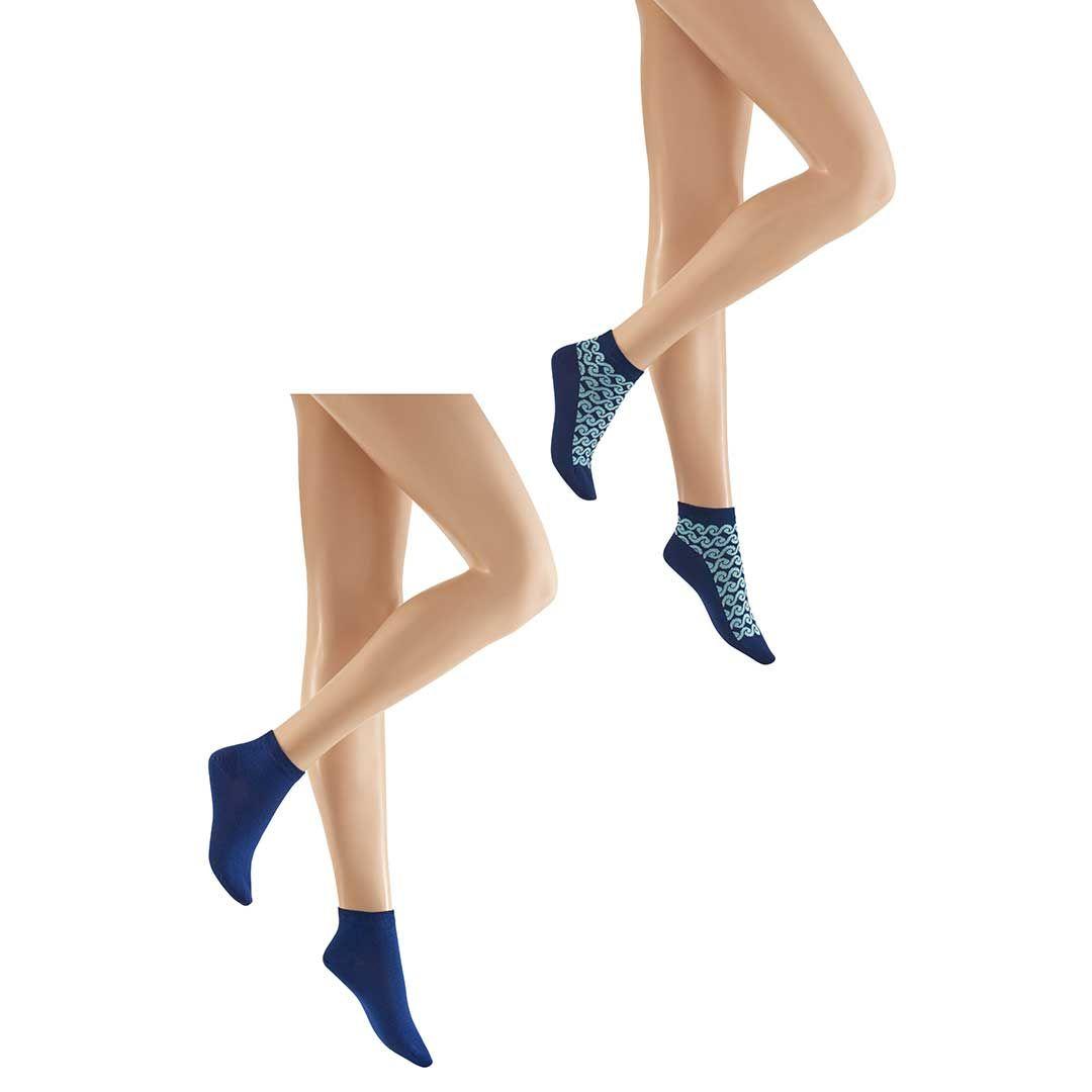 WAVES 2-PACK  Modische Sneaker Socken im Doppelpack - HUDSON