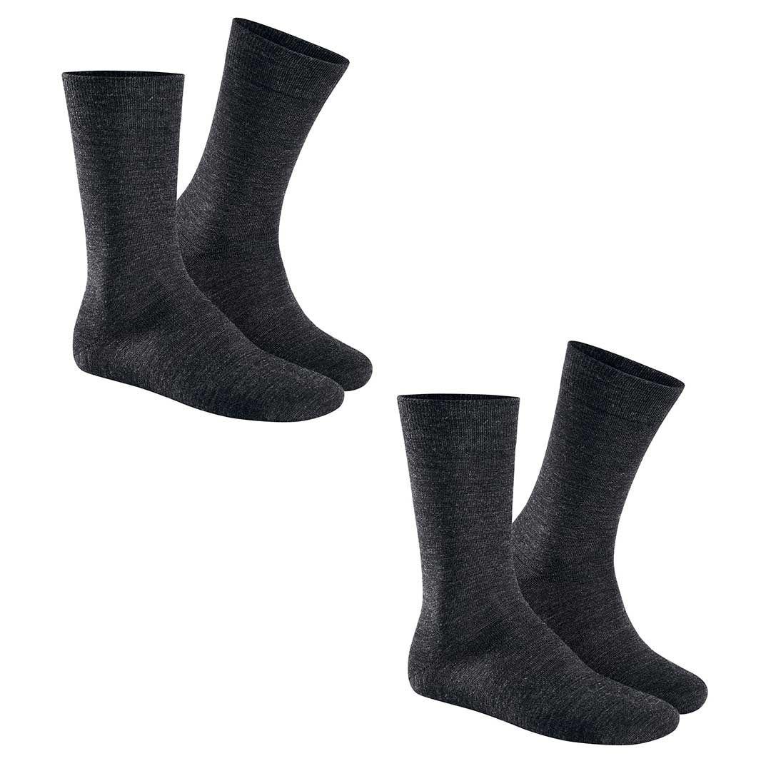 ONLY 2-PACK  Herren Socken mit Schurwolle im Doppelpack - HUDSON