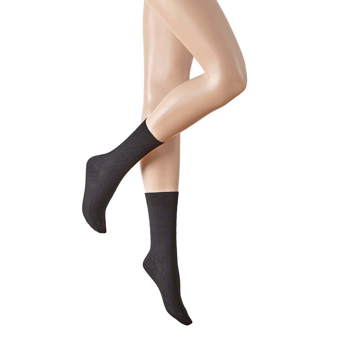 FINELY  Socken mit feiner Zopf-Musterung - HUDSON