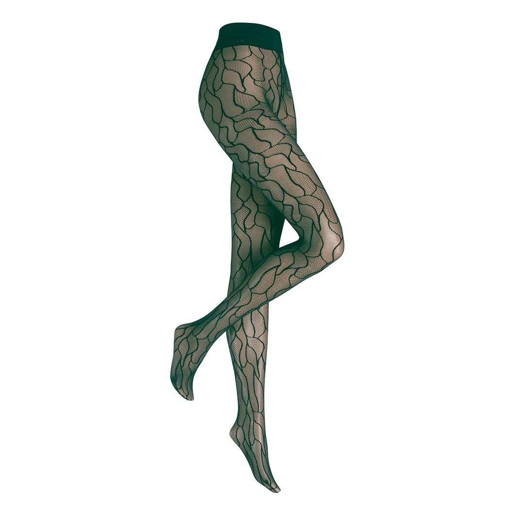 LEAVES  Strumpfhose mit Blatt-Musterung - HUDSON