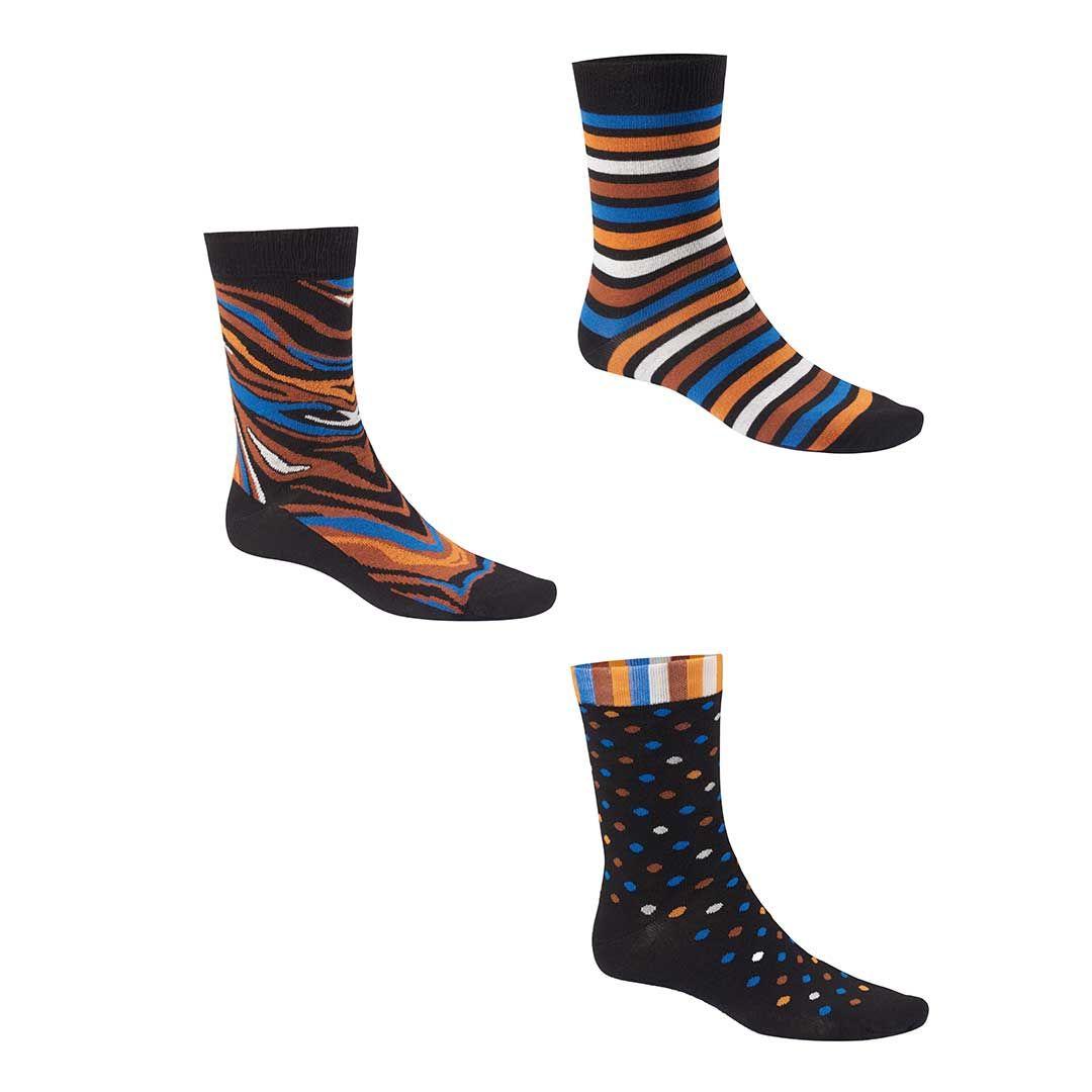 MIX-ME  Drei einzelne Socken mit unterschiedlichem Muster - HUDSON
