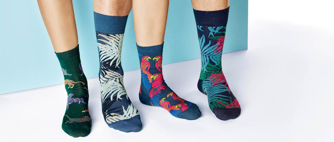 Hudson Angebote, Socken für Damen und Herren im Jungle Design, vergangene Frühjahr-/Sommer-Kollektion 2020